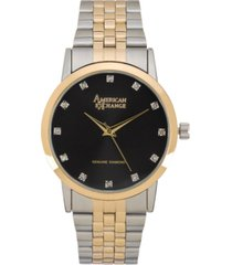 american exchange men's genuine diamond collection bracelet watch, 40mm