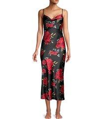 floral midi slip dress