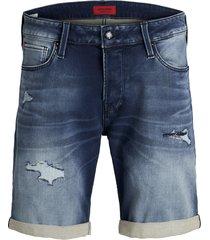 jack & jones jeans short 12147069 rick 854 blue korte broek denim