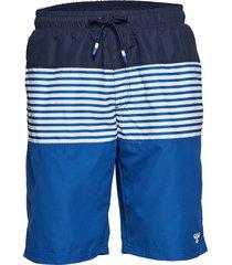 hmlriver board shorts surfshorts blå hummel