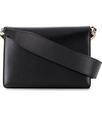 valextra swing shoulder bag - black