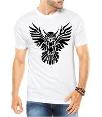 camiseta criativa urbana coruja tribal