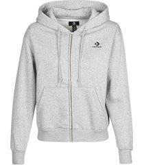sweater converse converse womens foundation full zip hoodie
