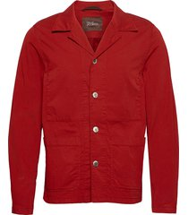 hampus shirt jacket overshirts rood oscar jacobson
