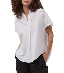 women's french connection cele rhodes cotton poplin top, size x-small - white