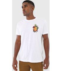 camiseta osklen abacaxi floral branca - branco - masculino - algodã£o - dafiti