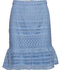 alva skirt knälång kjol blå valerie