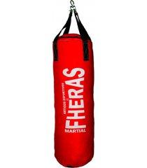 saco de pancada fheras 1,30 mts vermelho .