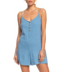 women's roxy coconut sunshine romper, size small - blue