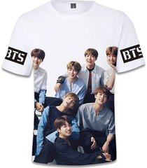 3d bts camiseta manga corta impresa creativa casual t-shirt tee nueva