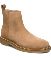 bond crepe suede ankle boot shoes chelsea boots brun royal republiq
