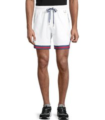 striped-cuff shorts