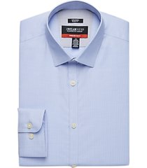 awearness kenneth cole awear-tech light blue stripe slim fit dress shirt