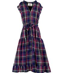 anita dress in magenta