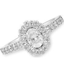 saks fifth avenue women's 14k white gold & diamond engagement ring/size 7 - size 7