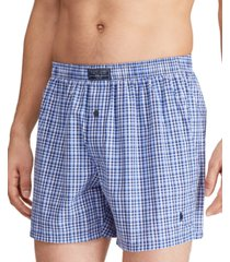 polo ralph lauren men's patterned woven boxers