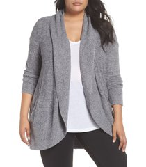 plus size women's barefoot dreams cozychic(tm) lite circle cardigan