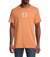 g-star raw men's cotton logo badge t-shirt - black - size l