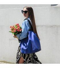 duża torba shopperka mili duo - electric blue