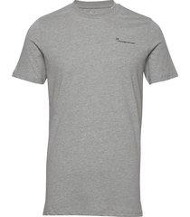 alder knowledgecotton tee - gots/ve t-shirts short-sleeved grå knowledge cotton apparel