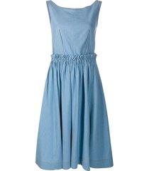 marni a-line chambray dress - blue