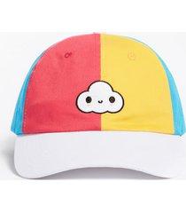 wielokolorowa czapka z daszkiem