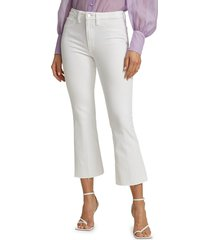joe's jeans women's the hi honey cropped jeans - white - size 25 (2)