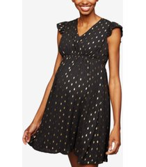 collective concepts maternity dress, short sleeve keyhole detail
