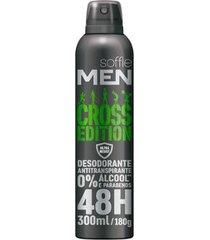 desodorante aerosol soffie men cross edition masculino 300ml