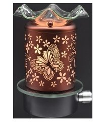 copper butterflies wall plugin oil/tart warmer use with scentsy/yankee candle wa