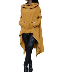 new women fashion draw cord coat long sleeve loose casual poncho coat hoodies sw