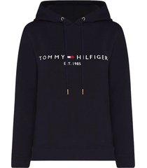 tommy hilfiger essential fleece hoodie met logo