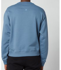 kenzo men's logo classic sweatshirt - blue - xl