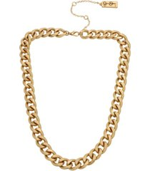 jessica simpson women's curb chain collar necklace