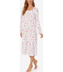 eileen west long-sleeve knit cotton ballet nightgown