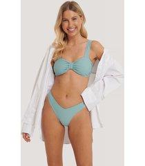 na-kd swimwear v-formad bikiniunderdel - blue