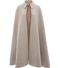 jw anderson a-line double face cape - grey