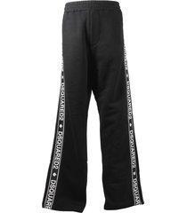 black cotton sweatpants