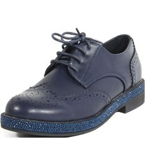 zapato ingles base strass azul mailea