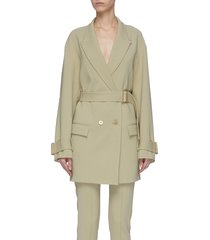'cocoon' belted jacket