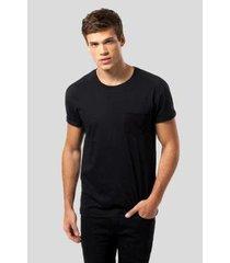 camiseta malha preta bolso preto reserva - masculino