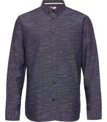 akkonrad ls oxford overhemd casual blauw anerkjendt