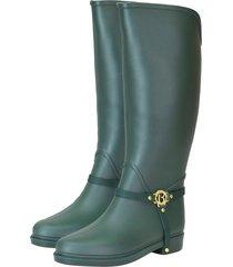 botas de lluvia impermeable golden insignia bottplie - verde
