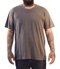 camiseta masculina algodão sandro clothing willy cinza estonada