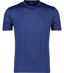 pierre cardin t-shirt ronde hals blauw effen