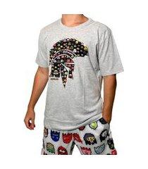 camiseta kevland pixel cinza