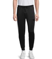 bertigo men's colorblock jogger pants - white black - size xl
