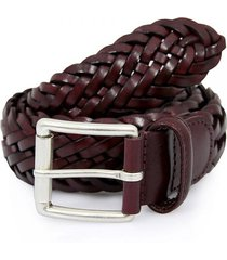 anderson's belts braided leather belt | bordeaux | a1097-d1