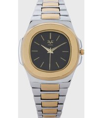 reloj plateado-dorado versace 19.69