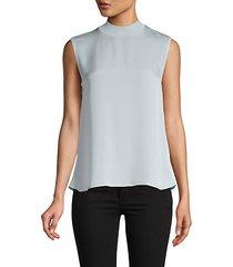sleeveless silk-blend self-tie top